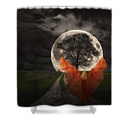 Moon Goddess Shower Curtain