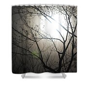 Moon Halo In Winter Shower Curtain