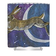 Moon Hare 2018 08 01 Shower Curtain