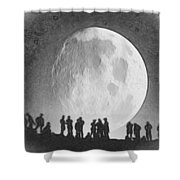 Moon - Id 16236-105000-9534 Shower Curtain