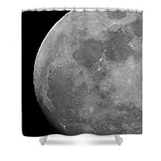 Moon In B And W Shower Curtain