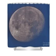 Moon In Blue Shower Curtain