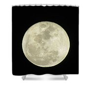 Moon In The Dark Sky Shower Curtain