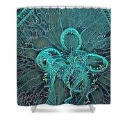 Moon Jellyfish Art Shower Curtain
