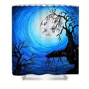 Moon Lit Shower Curtain