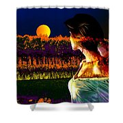 Moon Love Shower Curtain