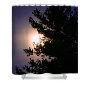 Moon Magical Glow Shower Curtain