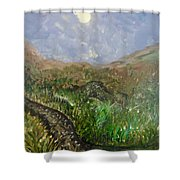 Moon Musings Shower Curtain