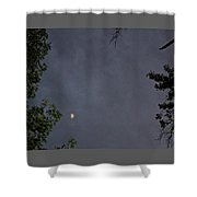 Moon On A Cloudy Night Shower Curtain