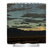 Moon Over Albuquerque Shower Curtain