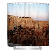 Moon Over Bryce II Shower Curtain