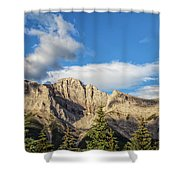 Moon Over Canmore Alberta Shower Curtain