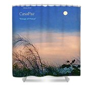 Moon Over Casapaz Shower Curtain