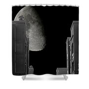 Moon Over Manhattan Shower Curtain