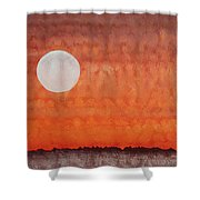 Moon Over Mojave Shower Curtain