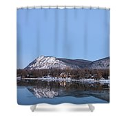 Moon Over Mont Saint Hilaire  Shower Curtain