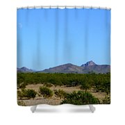 Moon Over My Mountains 2 Shower Curtain