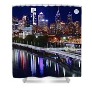 Moon Over Philly Shower Curtain