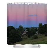 Moon Over Rodborough Common Shower Curtain