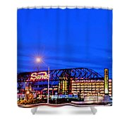Moon Over Sands Shower Curtain