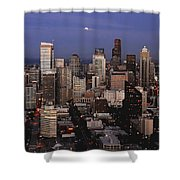 Moon Over Seattle Shower Curtain
