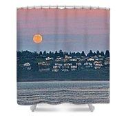 Moon Over Steilacoom Shower Curtain
