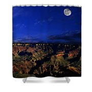 Moon Over The Canyon Shower Curtain