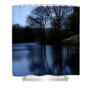 Moon Over The Charles Shower Curtain