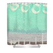 Moon Over The Sea Shower Curtain by Linda Woods