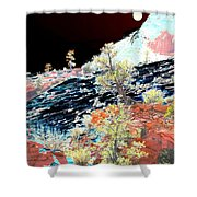Moon Over Utah Shower Curtain