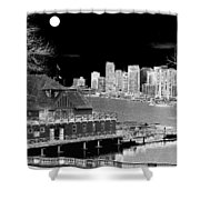 Moon Over Vancouver Shower Curtain