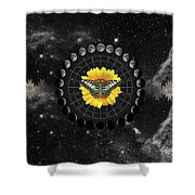 Moon Phase Pendulum With Butterfly  Shower Curtain