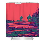 Moon Racers Shower Curtain