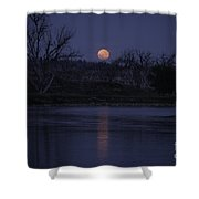Moon Rise Over The Tongue Shower Curtain