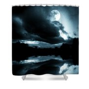 Moon Rising Shower Curtain by Aaron Berg