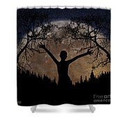 Moon Rising Shower Curtain