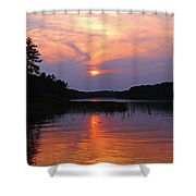 Moon River Silhouette Shower Curtain