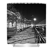 Moon Romance Bw Shower Curtain