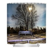 Moon Shadow Iroquois Point -1462 Shower Curtain