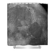 Moon Surface Close-up Shower Curtain
