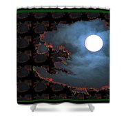 Moon Through Clouds  Photography With Graphic Flavour Created By Navinjoshi At Fineartamerica.co Shower Curtain
