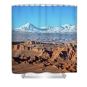 Moon Valley Atacama Desert Shower Curtain