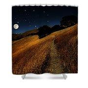Moon Walk Shower Curtain