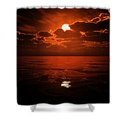 Moon Water  Shower Curtain