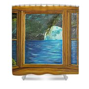 Moon Window Shower Curtain