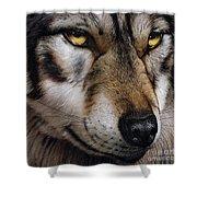 Moon Wolf Shower Curtain