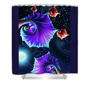 Moonflowers Shower Curtain
