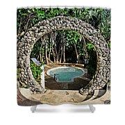 Moongate - Bermuda Shower Curtain