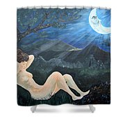 Moonlight And Sorrow Shower Curtain