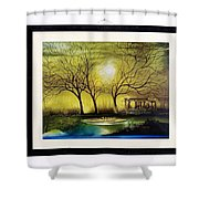Moonlight At Masinagudi Shower Curtain